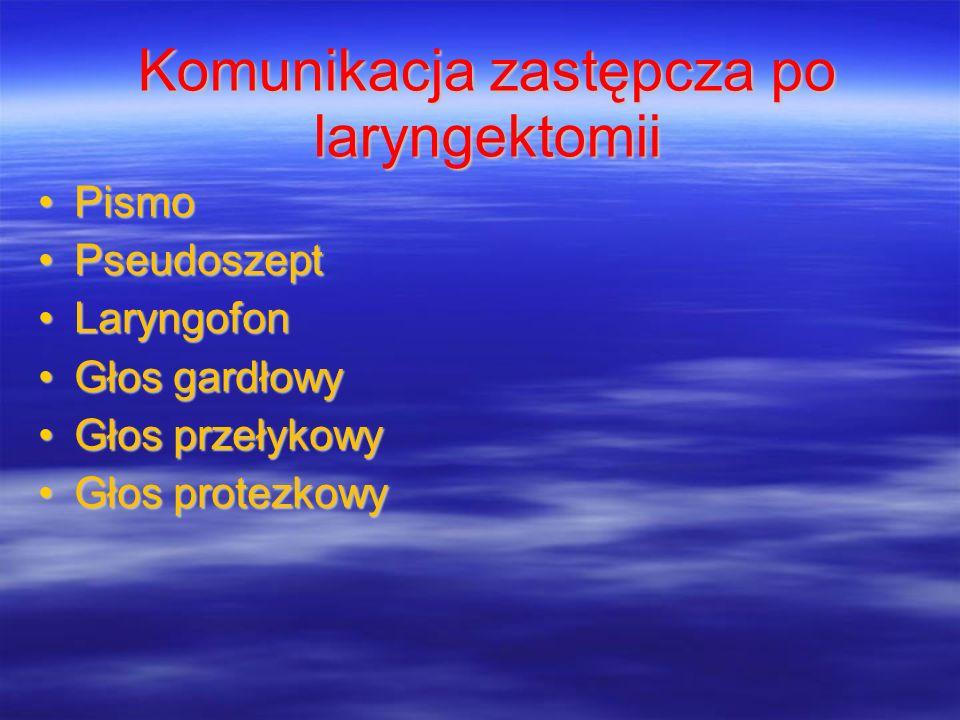 Komunikacja zastępcza po laryngektomii