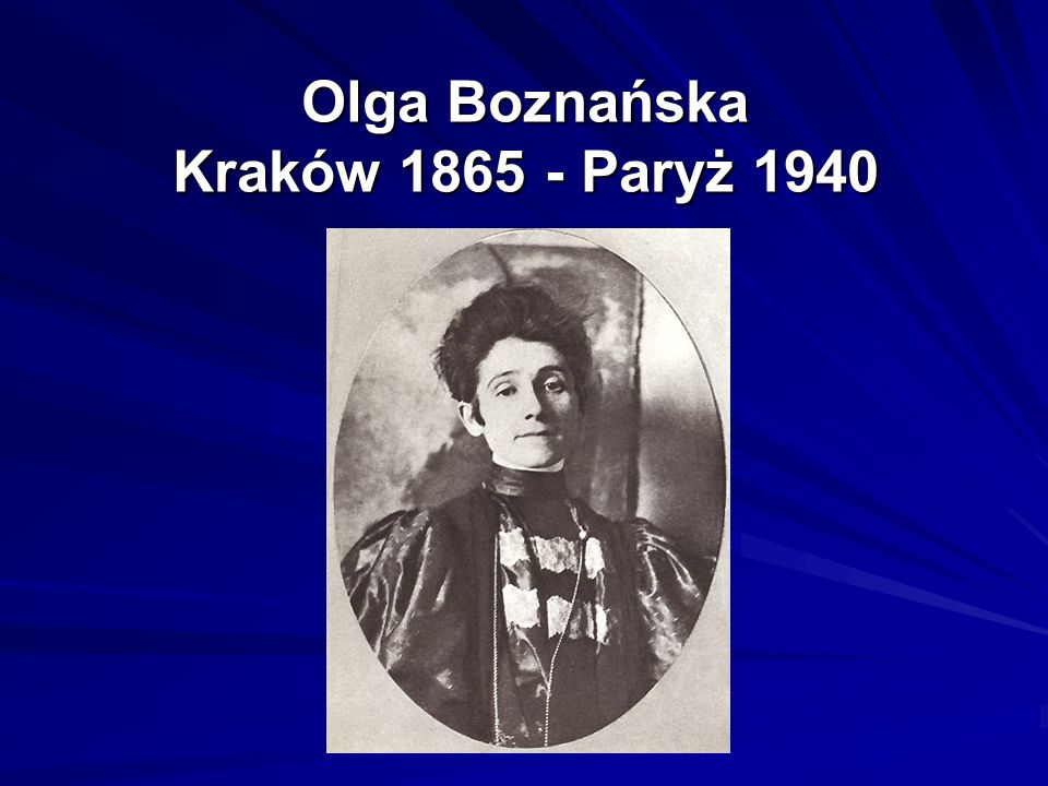 Olga Boznańska Kraków 1865 - Paryż 1940
