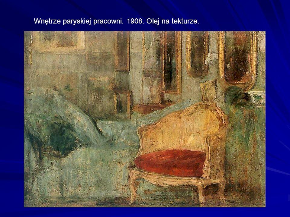 Wnętrze paryskiej pracowni. 1908. Olej na tekturze.