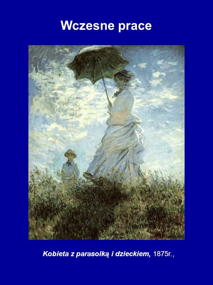 Kobieta z parasolką i dzieckiem, 1875r.,