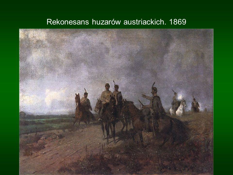 Rekonesans huzarów austriackich. 1869