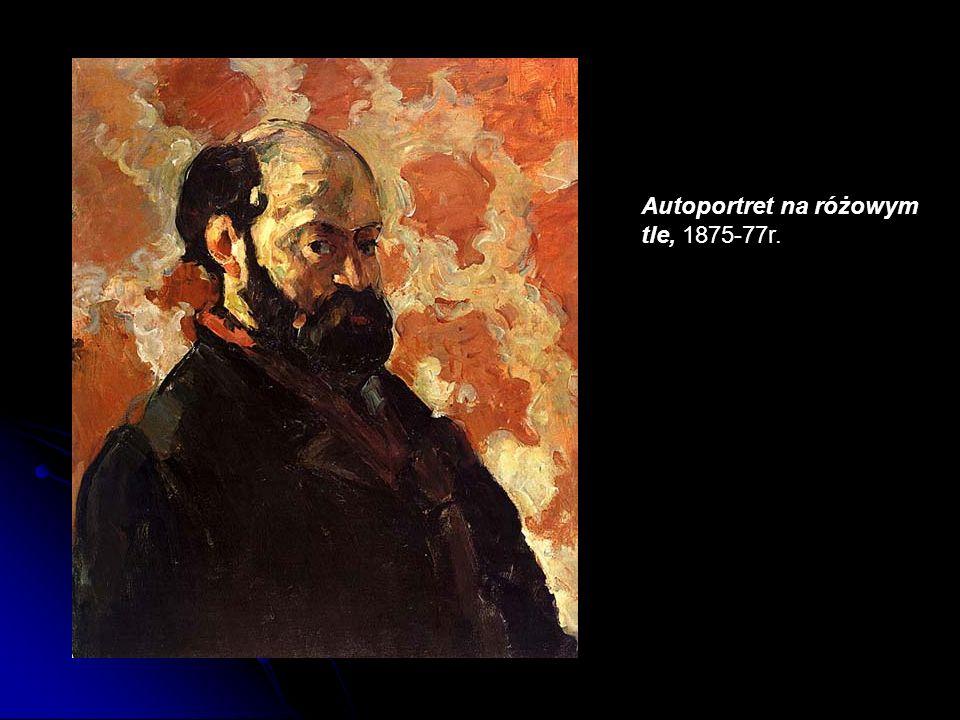 Autoportret na różowym tle, 1875-77r.