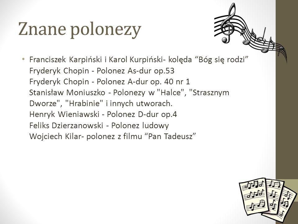 Znane polonezy