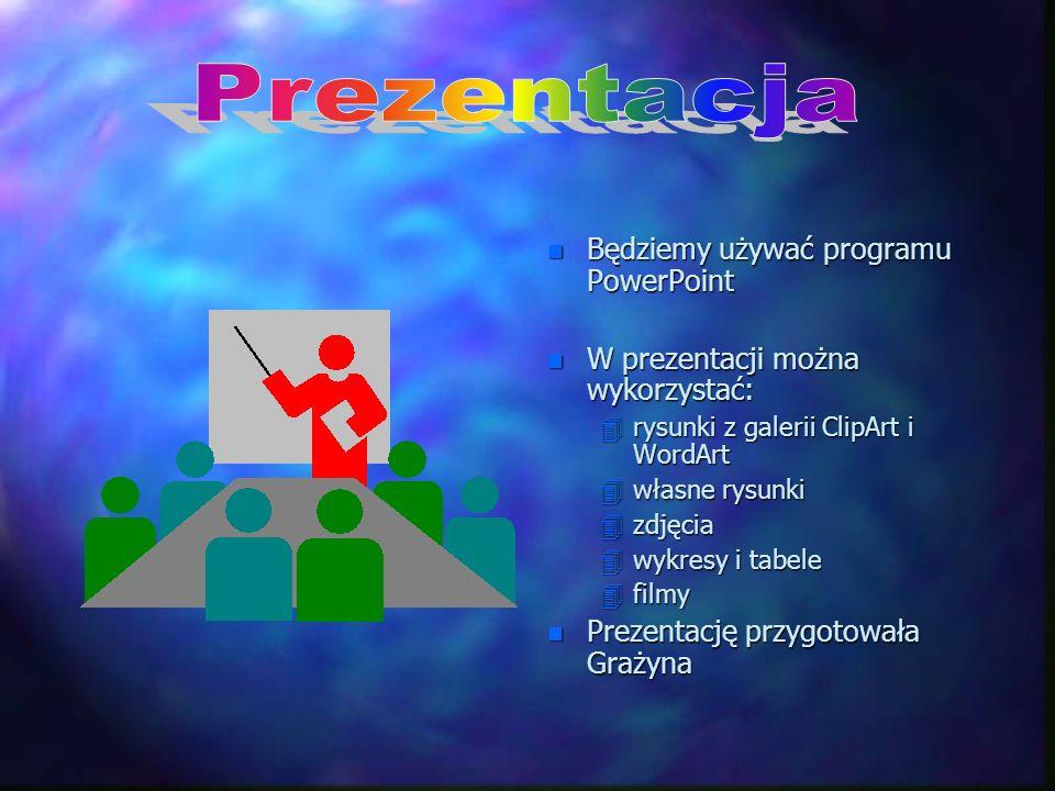 Prezentacja Będziemy używać programu PowerPoint