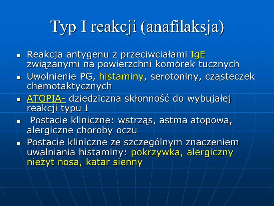 Typ I reakcji (anafilaksja)