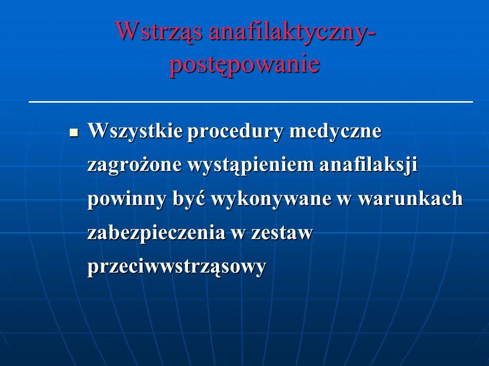 Wstrząs anafilaktyczny- postępowanie