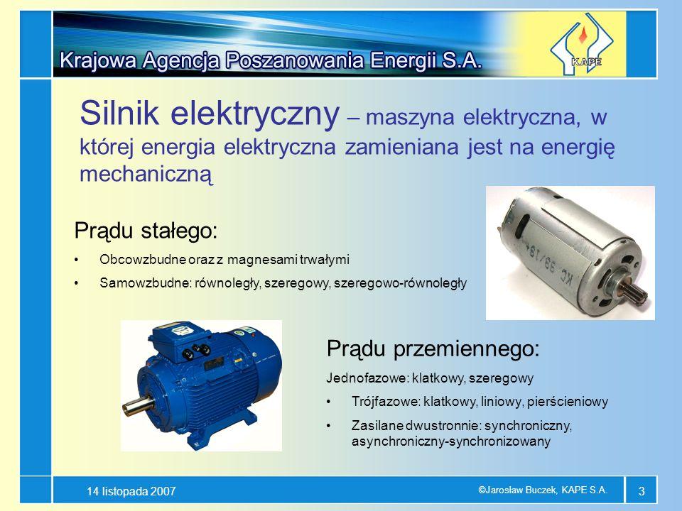 Silnik elektryczny – maszyna elektryczna, w której energia elektryczna zamieniana jest na energię mechaniczną