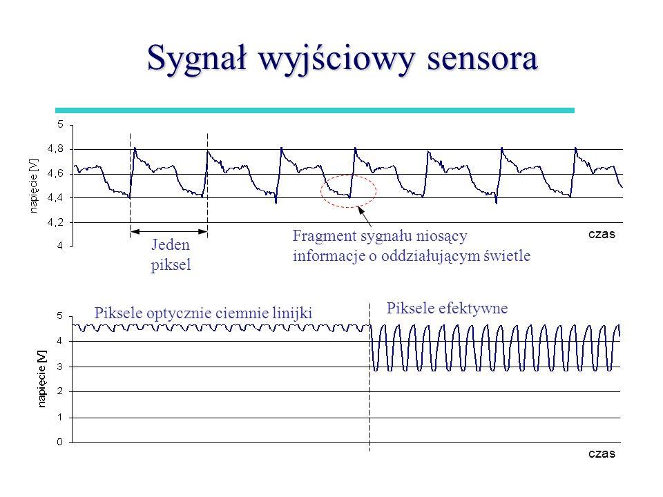 Sygnał wyjściowy sensora