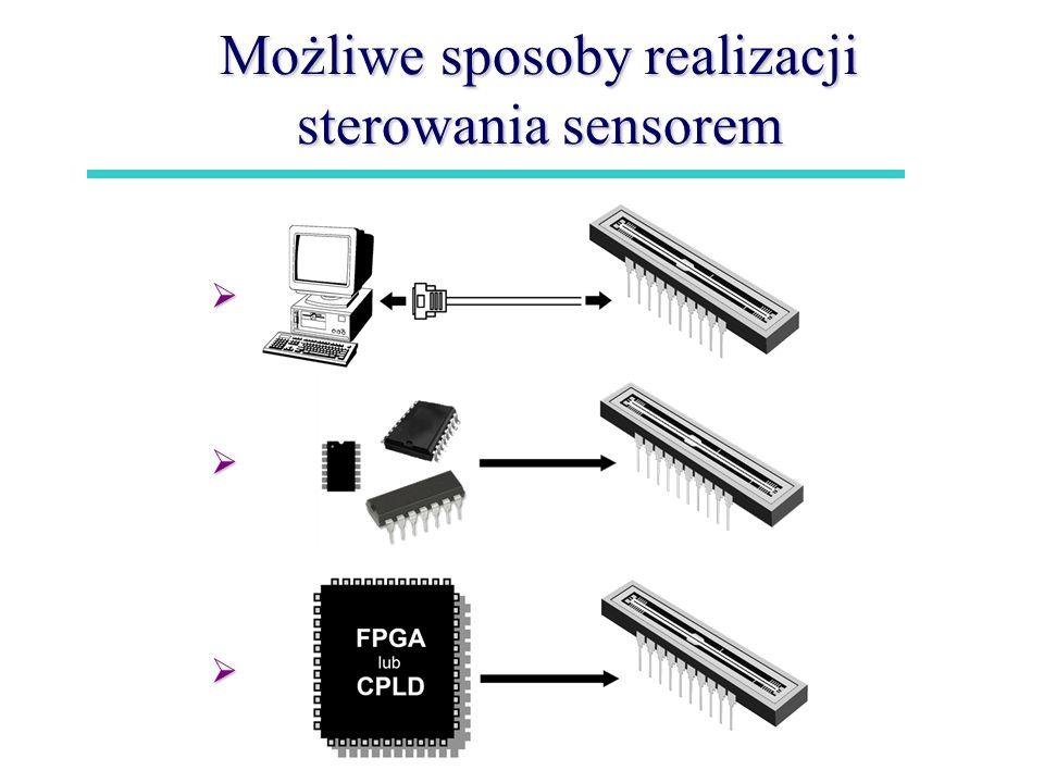Możliwe sposoby realizacji sterowania sensorem