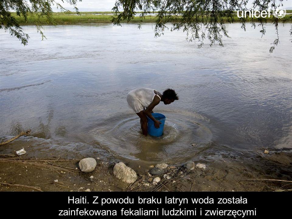 Haiti. Z powodu braku latryn woda została zainfekowana fekaliami ludzkimi i zwierzęcymi