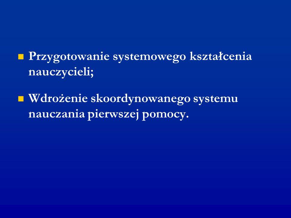 Przygotowanie systemowego kształcenia nauczycieli;