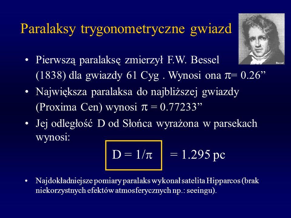 Paralaksy trygonometryczne gwiazd
