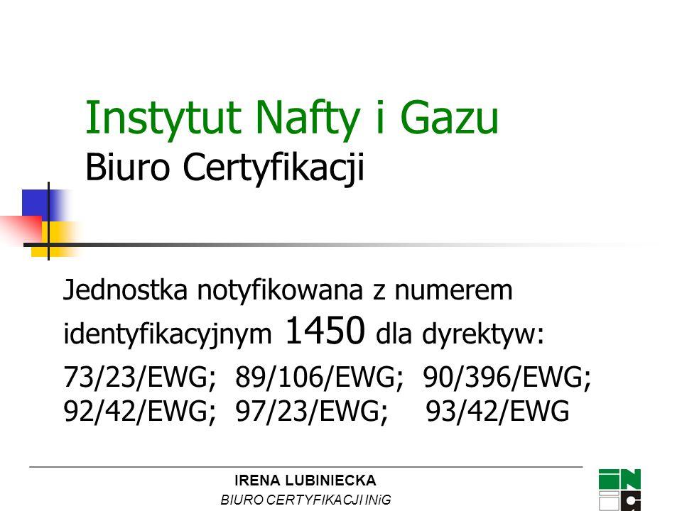 Instytut Nafty i Gazu Biuro Certyfikacji