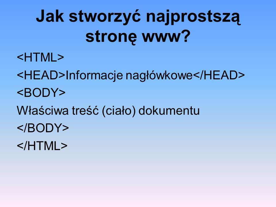 Jak stworzyć najprostszą stronę www