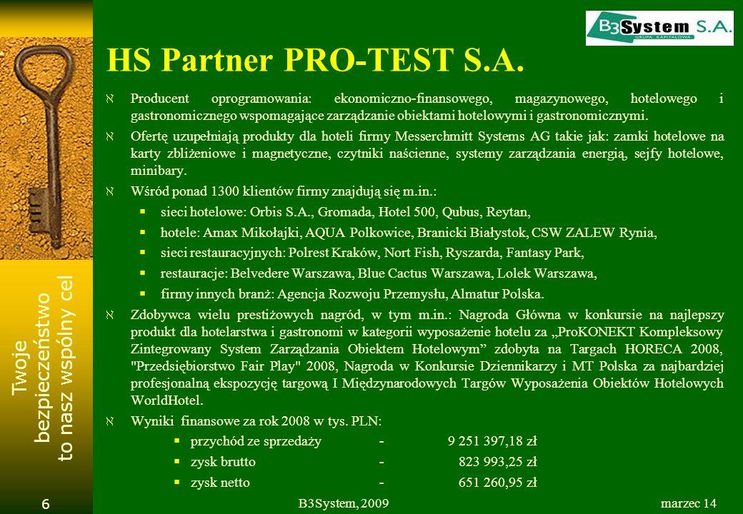 HS Partner PRO-TEST S.A.