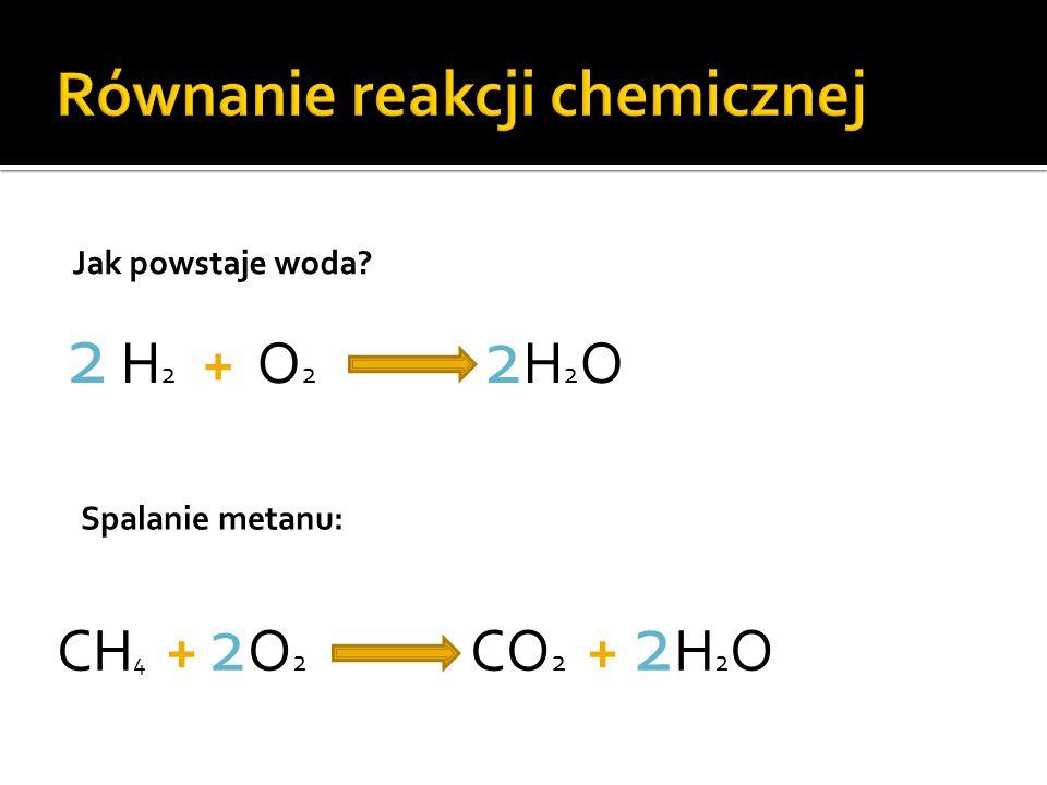 Równanie reakcji chemicznej