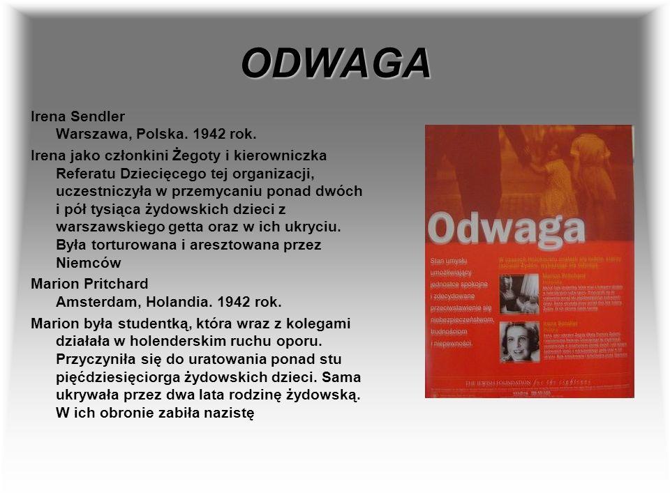 ODWAGA Irena Sendler Warszawa, Polska. 1942 rok.