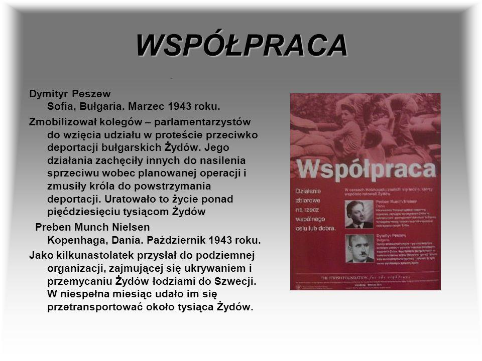 WSPÓŁPRACA Dymityr Peszew Sofia, Bułgaria. Marzec 1943 roku.