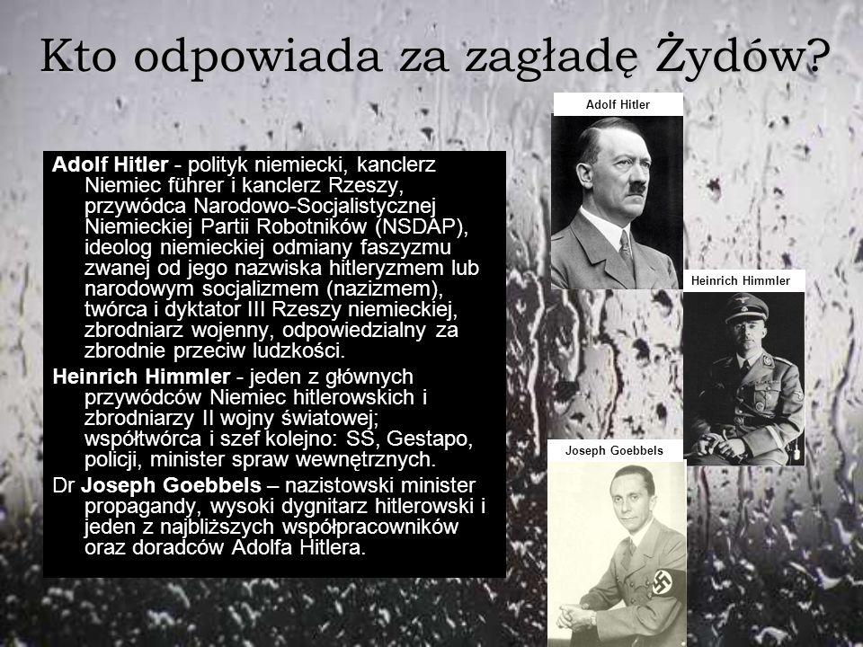 Kto odpowiada za zagładę Żydów