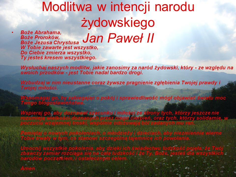 Modlitwa w intencji narodu żydowskiego Jan Paweł II