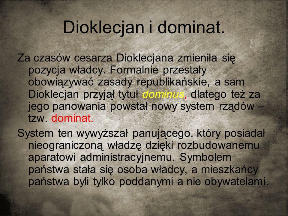 Dioklecjan i dominat.
