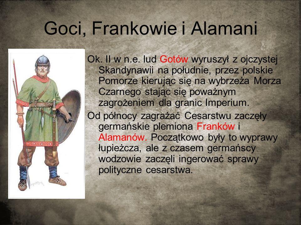 Goci, Frankowie i Alamani