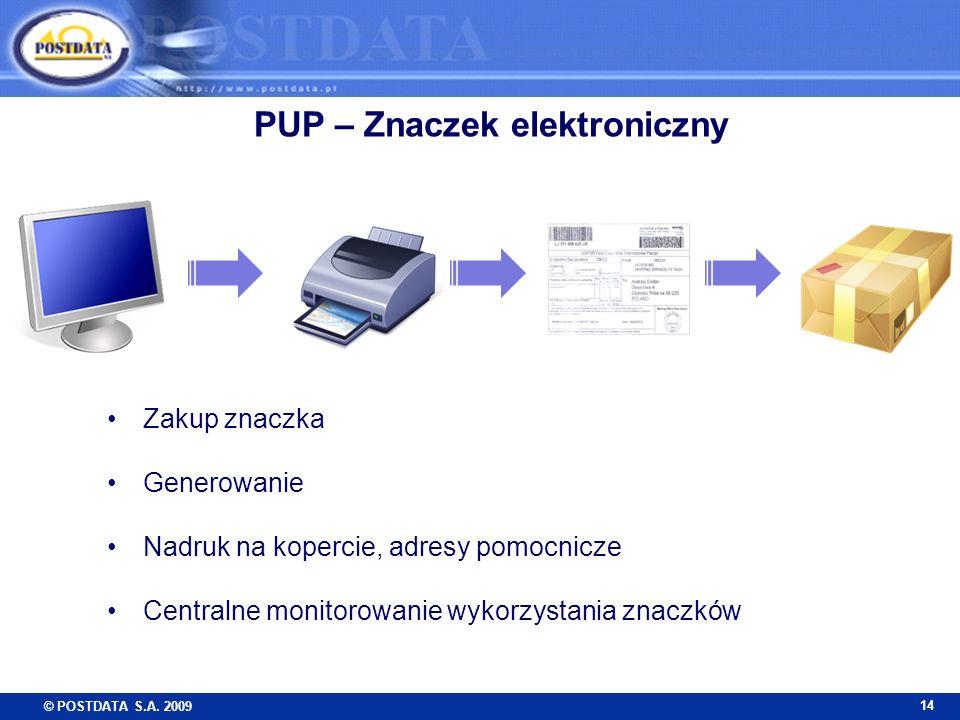 PUP – Znaczek elektroniczny