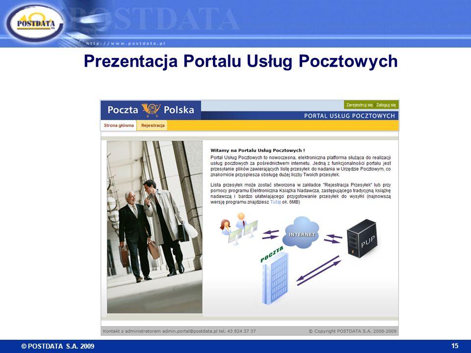 Prezentacja Portalu Usług Pocztowych