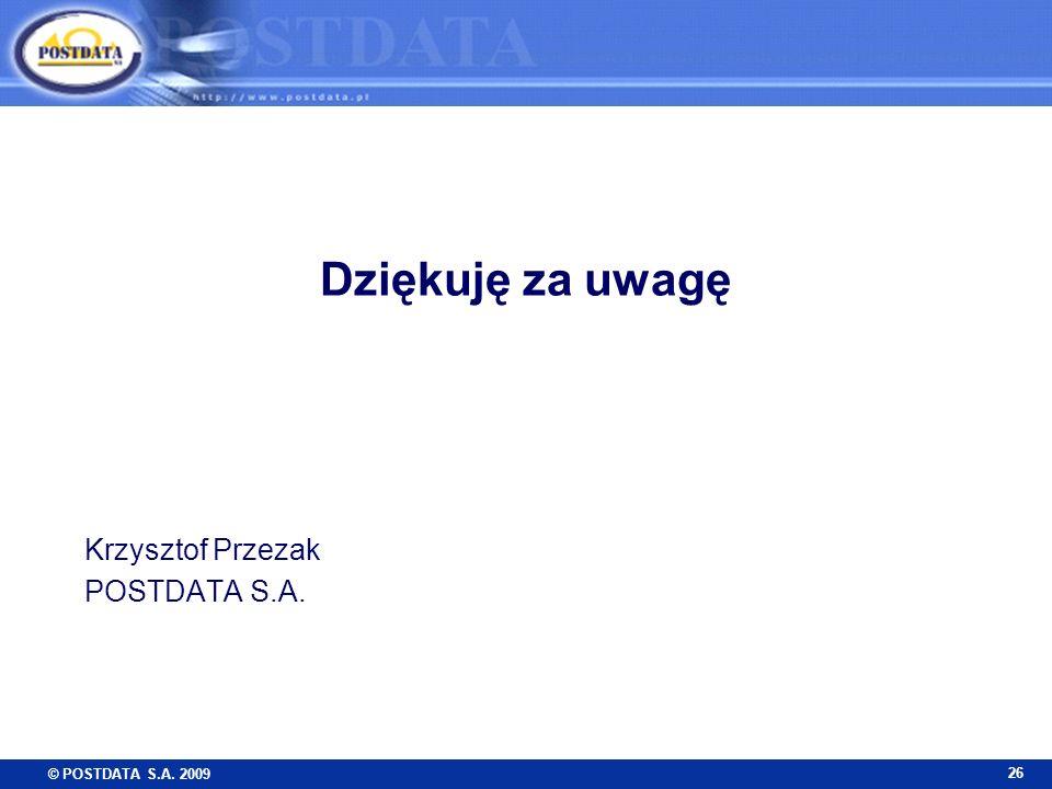 Krzysztof Przezak POSTDATA S.A.