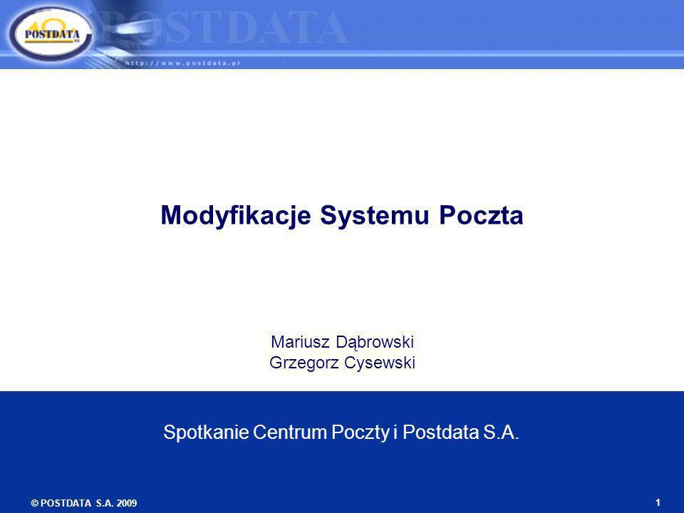 Modyfikacje Systemu Poczta