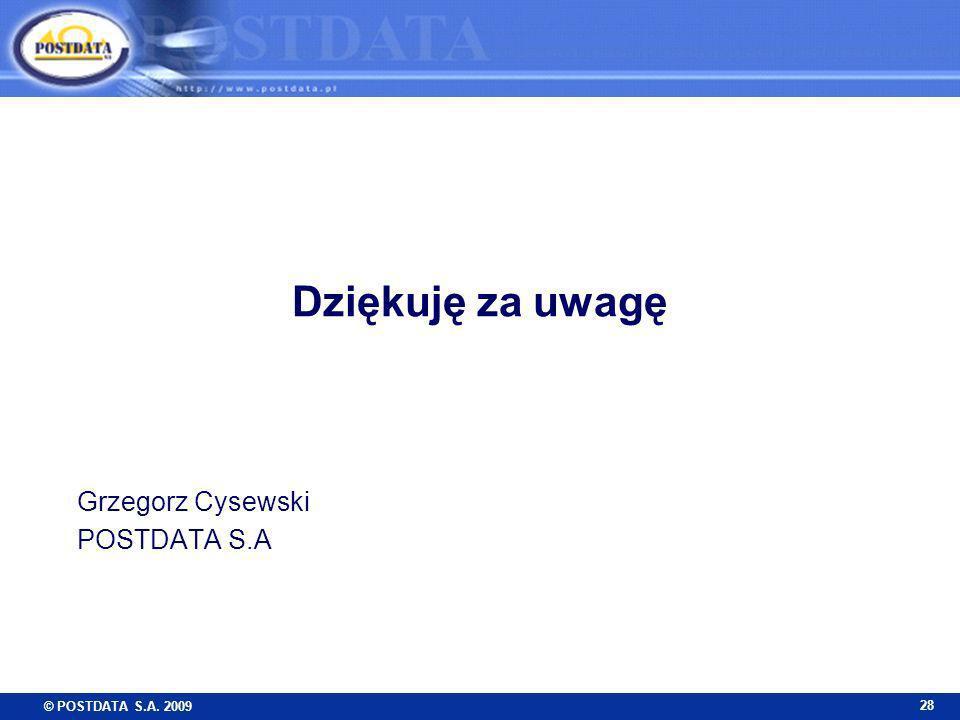 Grzegorz Cysewski POSTDATA S.A
