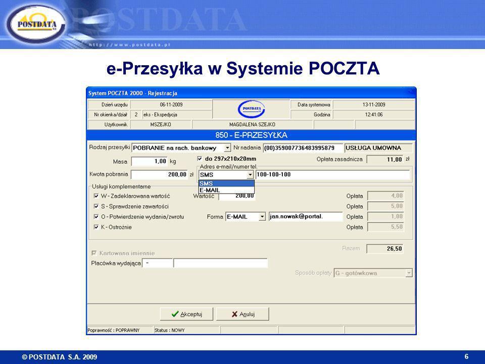 e-Przesyłka w Systemie POCZTA