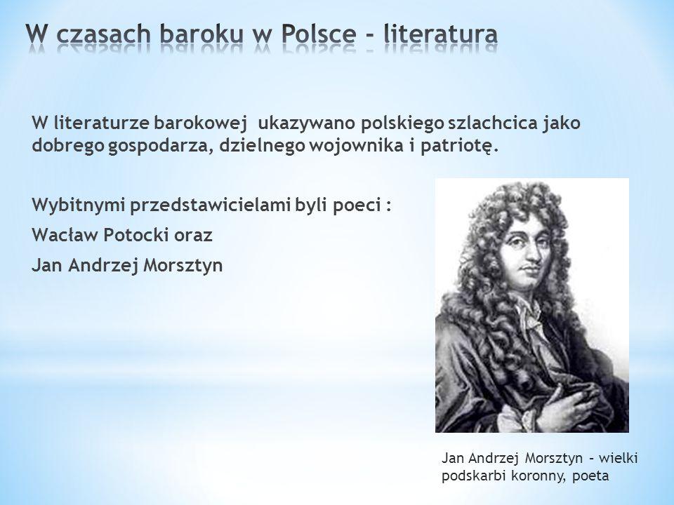 W czasach baroku w Polsce - literatura