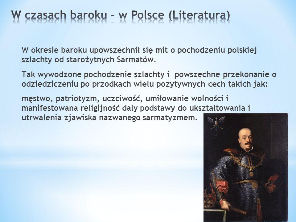 W czasach baroku – w Polsce (Literatura)