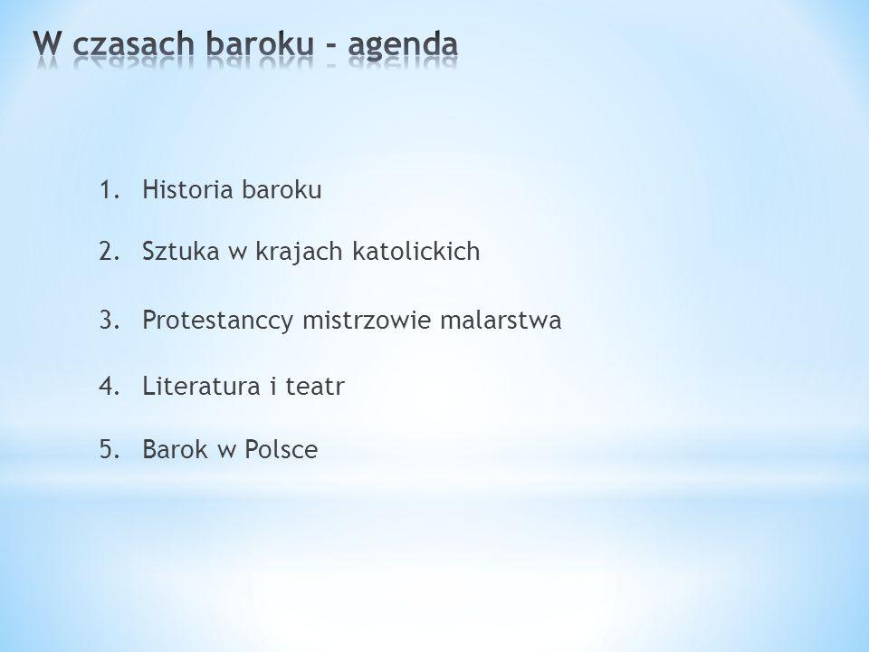 W czasach baroku - agenda
