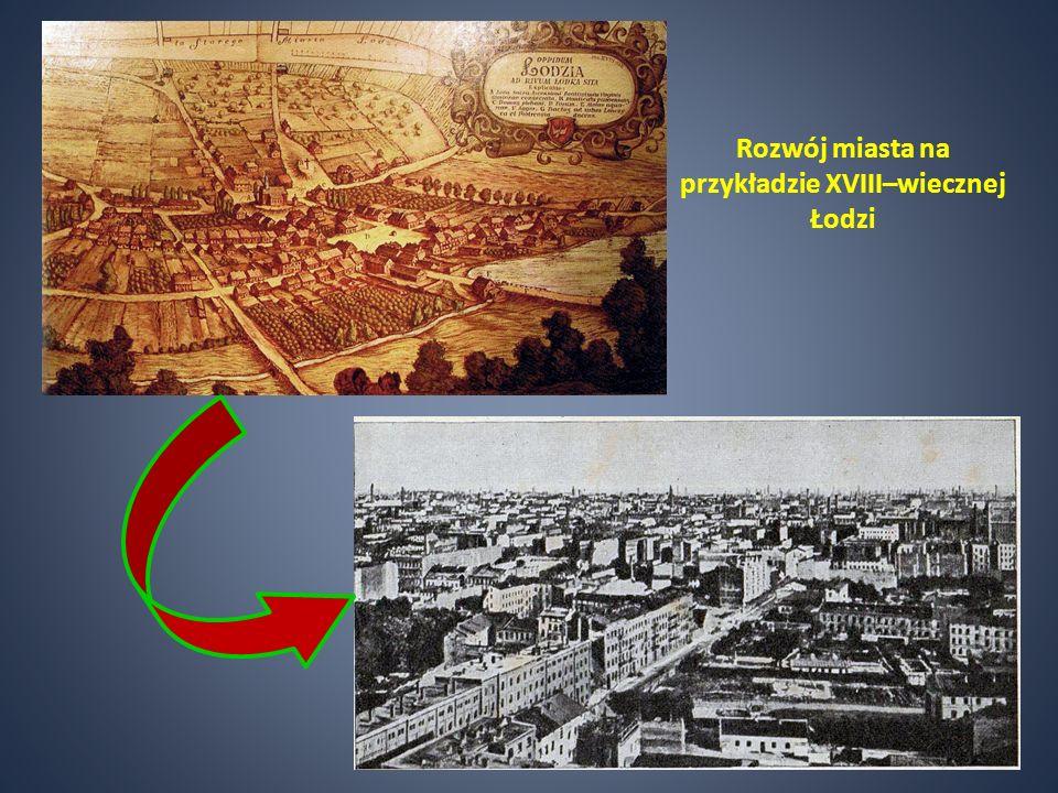 Rozwój miasta na przykładzie XVIII–wiecznej Łodzi