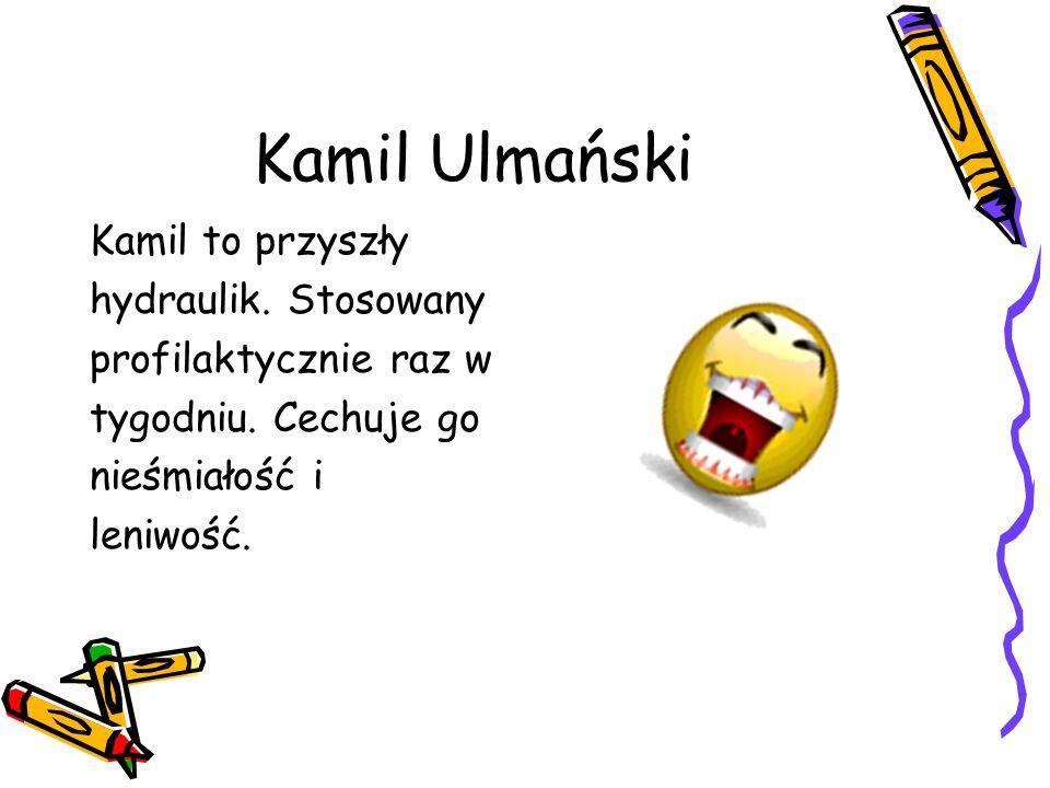 Kamil Ulmański Kamil to przyszły hydraulik. Stosowany