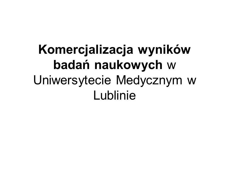Komercjalizacja wyników badań naukowych w Uniwersytecie Medycznym w Lublinie