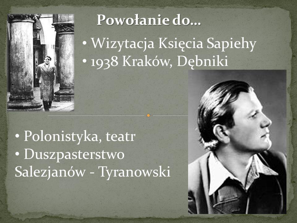 Powołanie do… Wizytacja Księcia Sapiehy. 1938 Kraków, Dębniki.