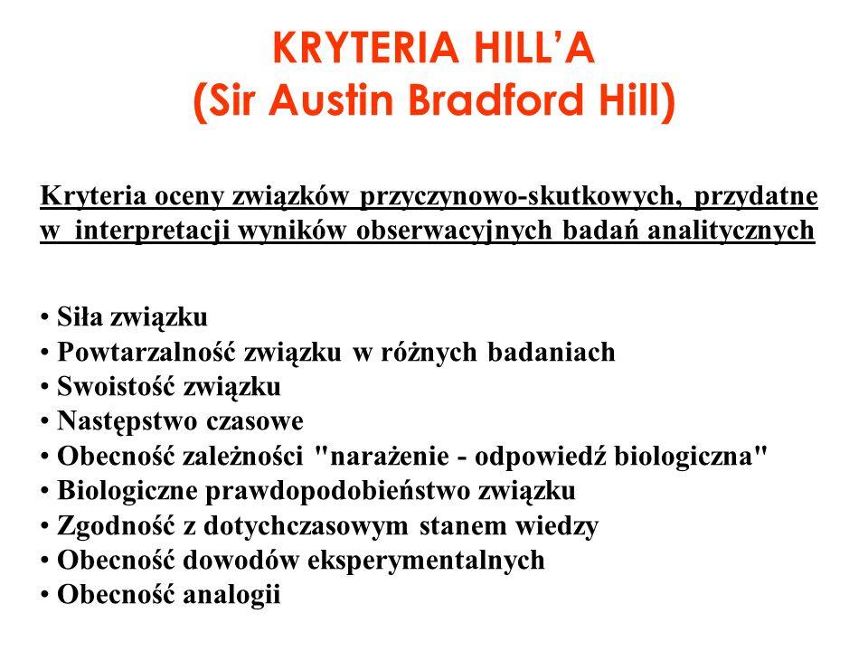 (Sir Austin Bradford Hill)
