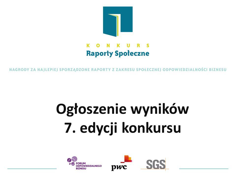 Ogłoszenie wyników 7. edycji konkursu