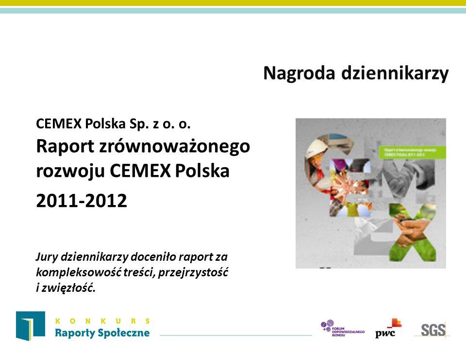 Raport zrównoważonego rozwoju CEMEX Polska 2011-2012