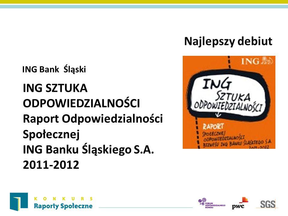 Najlepszy debiut ING Bank Śląski.