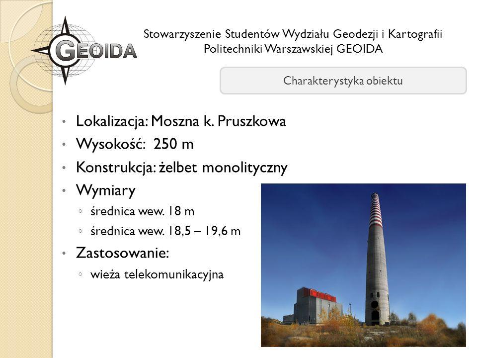 Lokalizacja: Moszna k. Pruszkowa Wysokość: 250 m