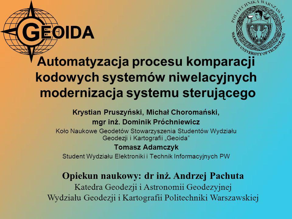 Automatyzacja procesu komparacji kodowych systemów niwelacyjnych modernizacja systemu sterującego