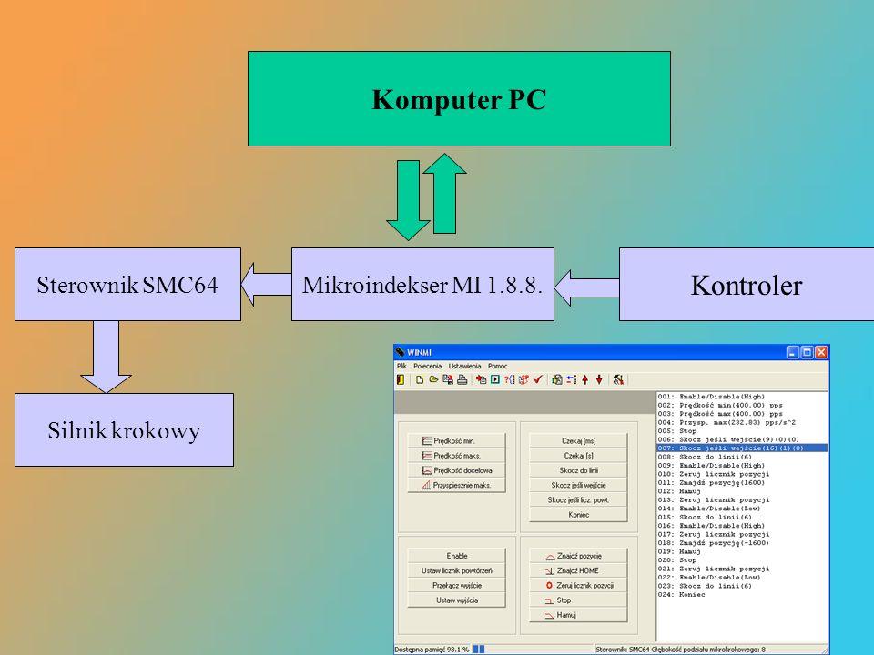 Komputer PC Kontroler Sterownik SMC64 Mikroindekser MI 1.8.8.