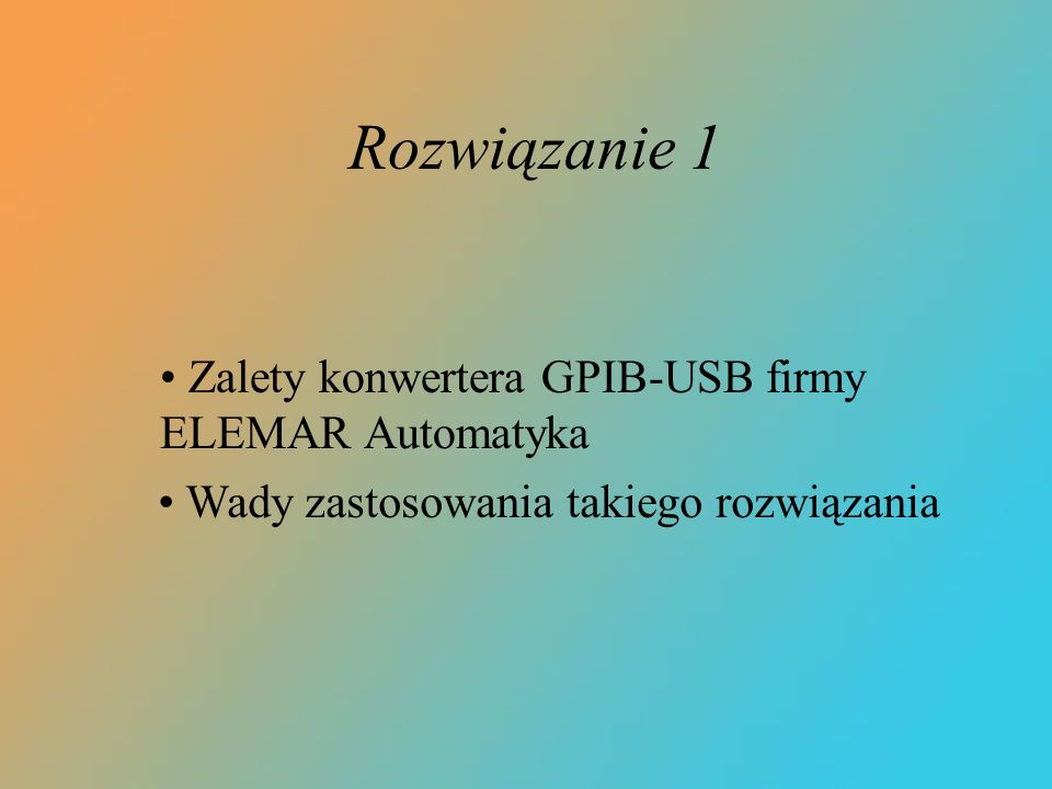 Zalety konwertera GPIB-USB firmy ELEMAR Automatyka
