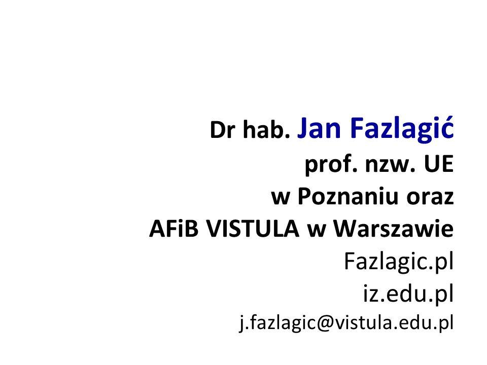 Dr hab. Jan Fazlagić prof. nzw