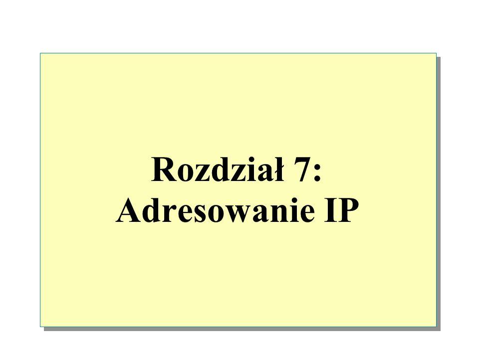 Rozdział 7: Adresowanie IP