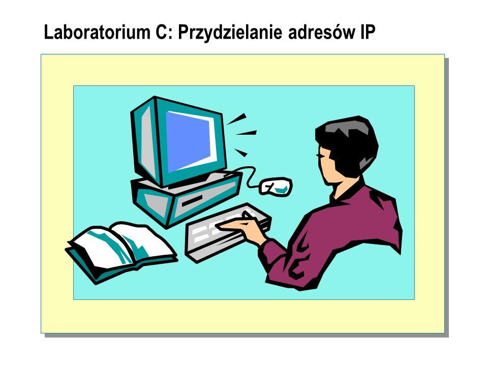 Laboratorium C: Przydzielanie adresów IP